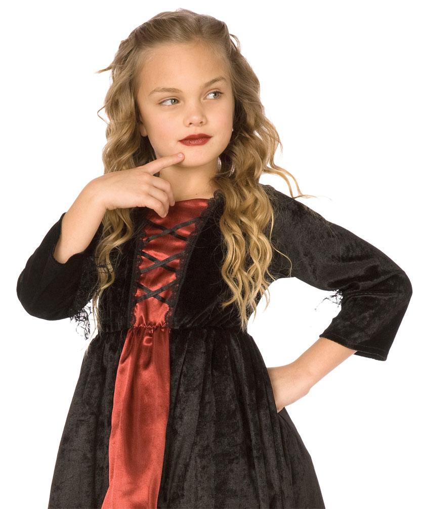vampir kost m kinder m dchen kleid mit halsband kost me. Black Bedroom Furniture Sets. Home Design Ideas