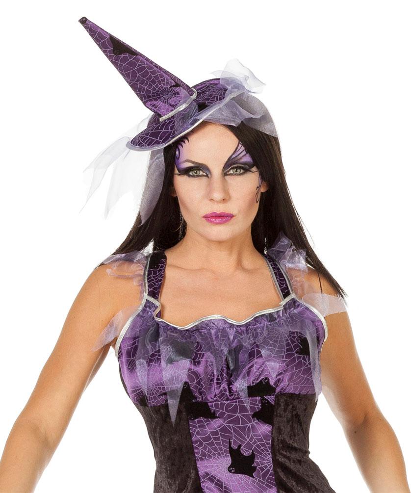Hexe Damen Lila Mit Hexenbesen