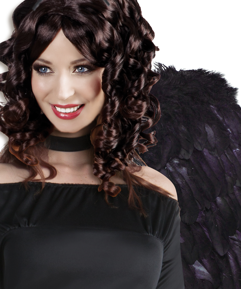 Horror Kostum Damen Schwarzer Engel Kostum Kostume