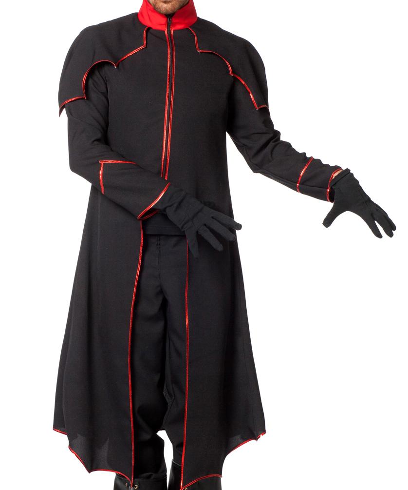 Schwarzer mantel fasching