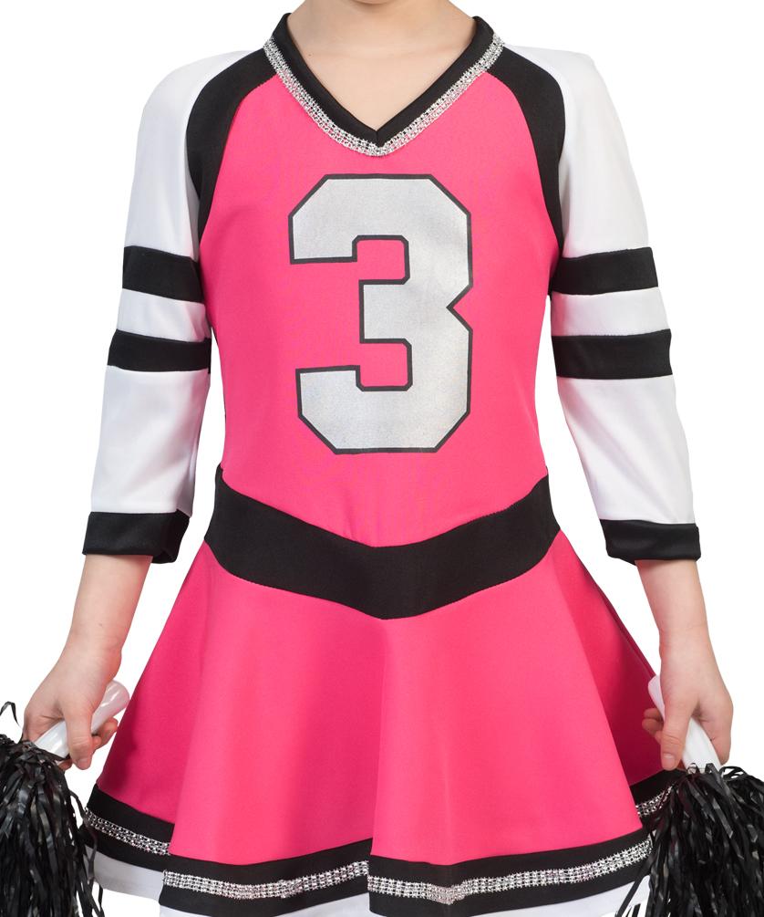 Cheerleader Kostum Kinder Pink Schwarz Weiss Cheerleader Kleid