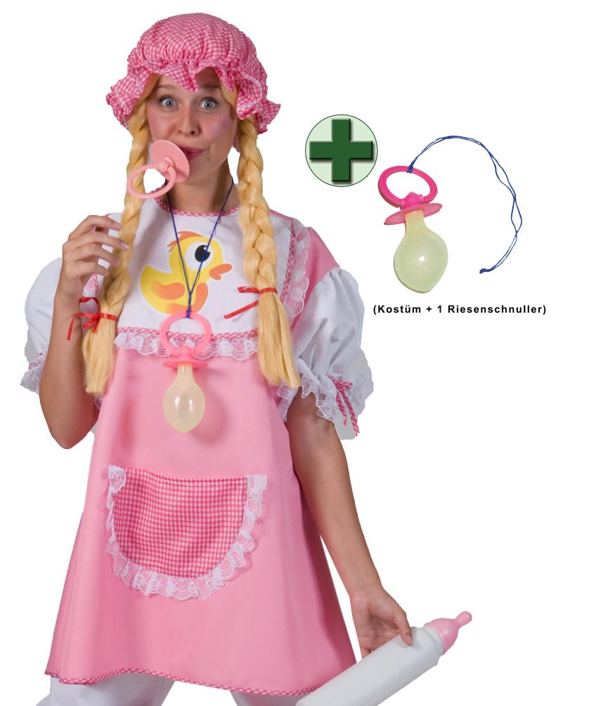 Baby Kostum Damen Baby Damen Kostum Rosa Weiss Mit Riesen Schnuller