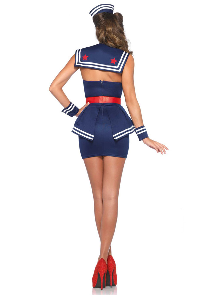 Sexy Matrosin Kostüm Damen Pin Up 50 Marine Damenkostüm