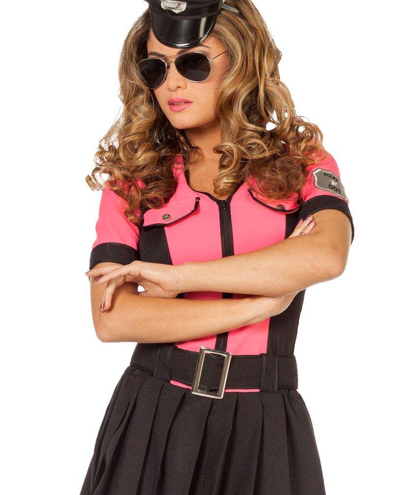 Polizistin Kostum Damen Polizist Damen Kostum Polizistin Kleid Pink