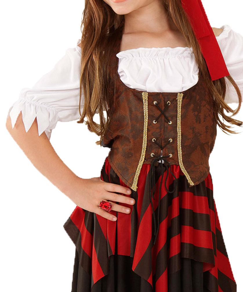 e48a1f241879e Piraten Kostüm Piratin Mädchen Piratenbraut Kinder Piratensäbel