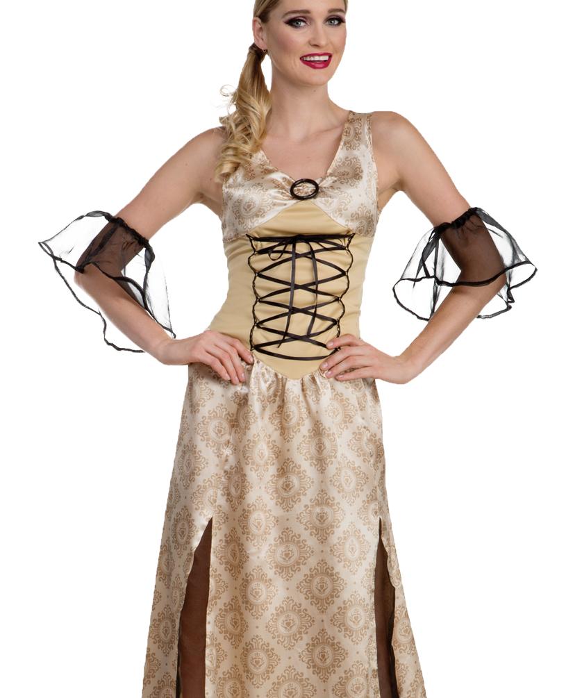 burgfr ulein damen kost m burgfrau kleid mittelalter prinzessin beige kost me g nstige. Black Bedroom Furniture Sets. Home Design Ideas