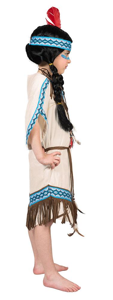 d2cbd41208ac0 Indianer Kostüm Kinder Indianerin Mädchen-Kostüm Pocahontas beige blau