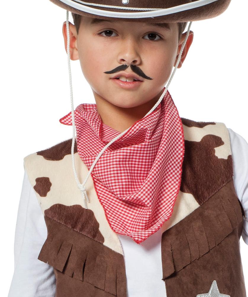 Cowboy Kostum Kinder Braun Kuhdruck Western Kostum Kinder Kostum
