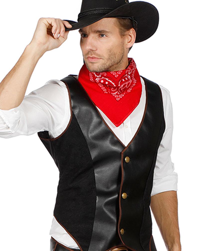 cowboy kost m herren m nner luxus weste und chaps neu. Black Bedroom Furniture Sets. Home Design Ideas