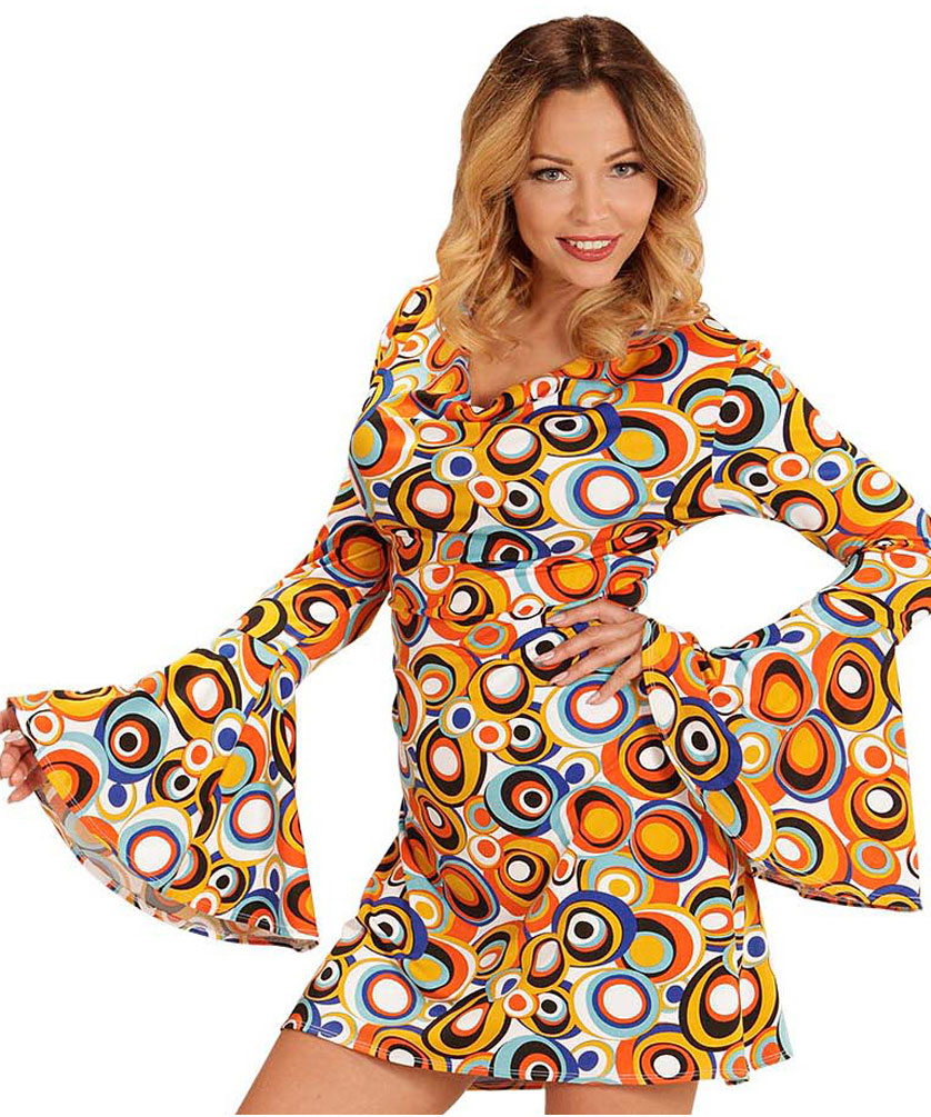 6cd841a1cd373 Frage stellen Drucken Empfehlen. Flower Power Hippie Kostüm Hippie-Kleid bunt  Damen-Kostüm