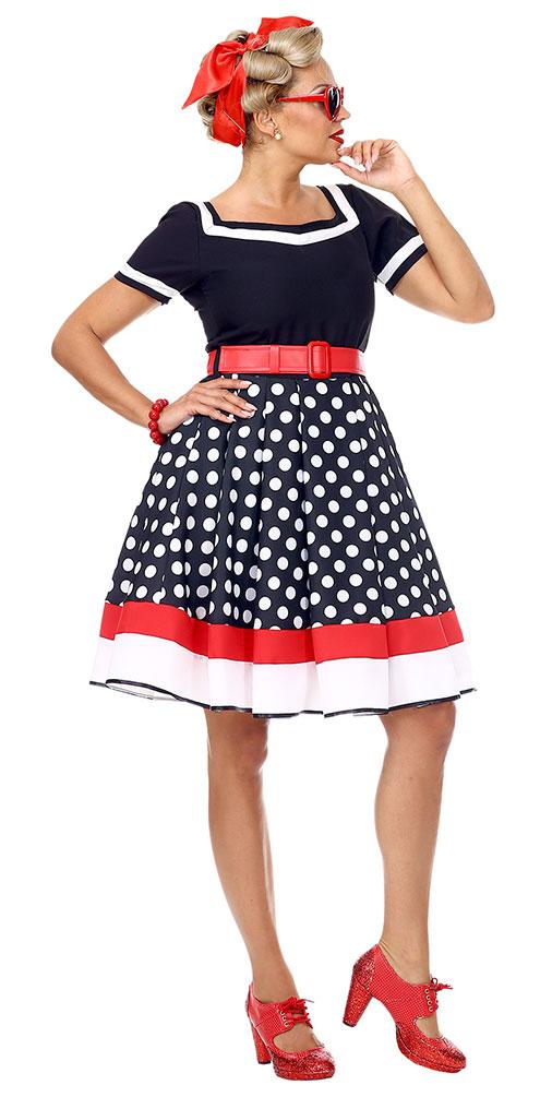 heißester Verkauf reich und großartig Online-Einzelhändler 50er Jahre Kostüm Damen Rockabilly Kleid mit Petticoat