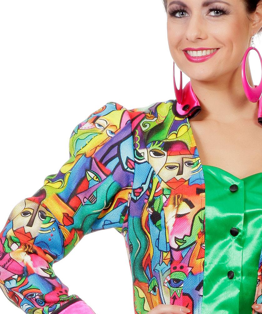 bunte Jacken Karneval Damen Kostüm Picasso