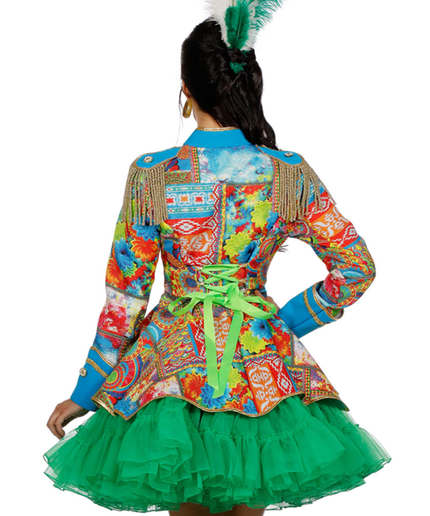 bunte Garde Jacke Karneval Damen Kostüm