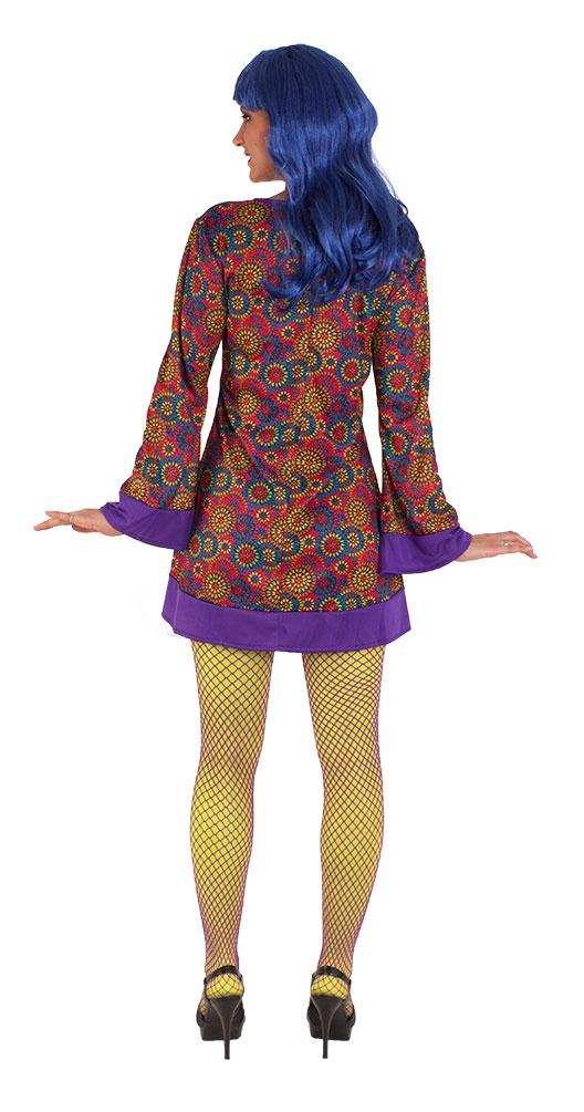 hippie kleid hippie kost m flower power 60er 70er jahre blumen damen kost m kk ebay. Black Bedroom Furniture Sets. Home Design Ideas