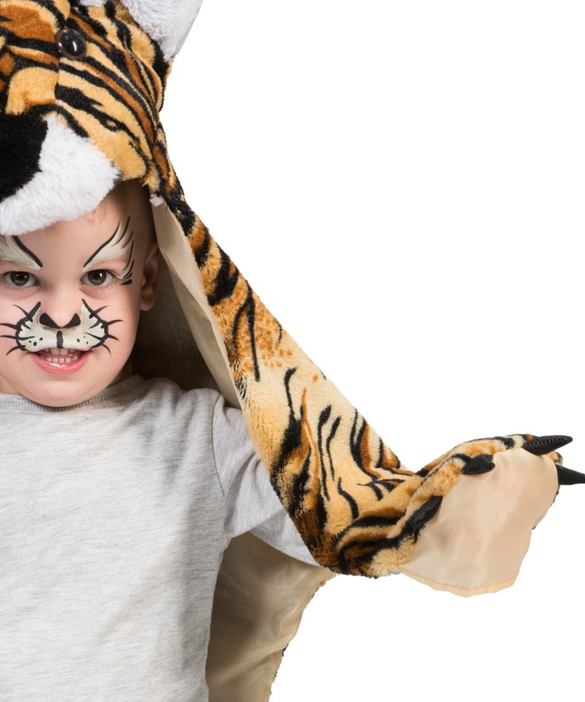 tiger kost m kinder tiger umhang kinder tiger fell teppich. Black Bedroom Furniture Sets. Home Design Ideas