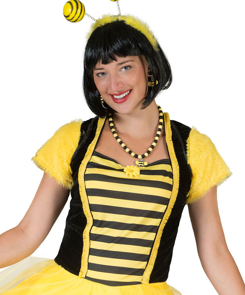 Bienen Damen Kostum Bienchen Kleid Kostume