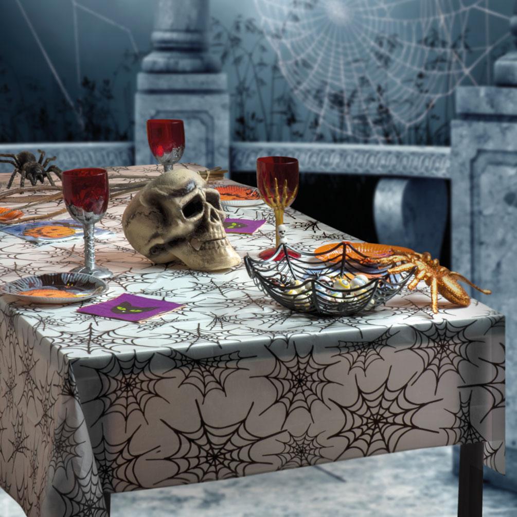 Tischdeko Party Set Halloween Spinnennetz 2 Teile Dekoration