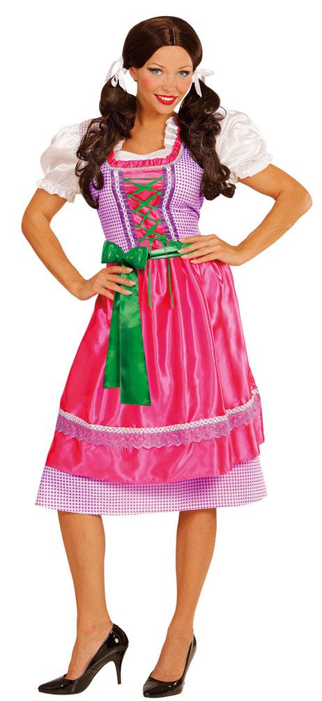 cd3cfc9a29a2e6 Fachingskostüm Dirndl pink lang für Damen (Kostüme)
