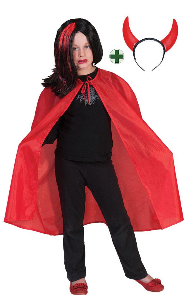 Teufel Kostum Kinder Rot Mit Teufelshorner
