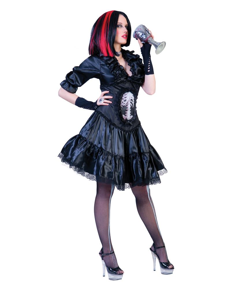 vampir kost m damen damenkost m gothic horror vampirin. Black Bedroom Furniture Sets. Home Design Ideas