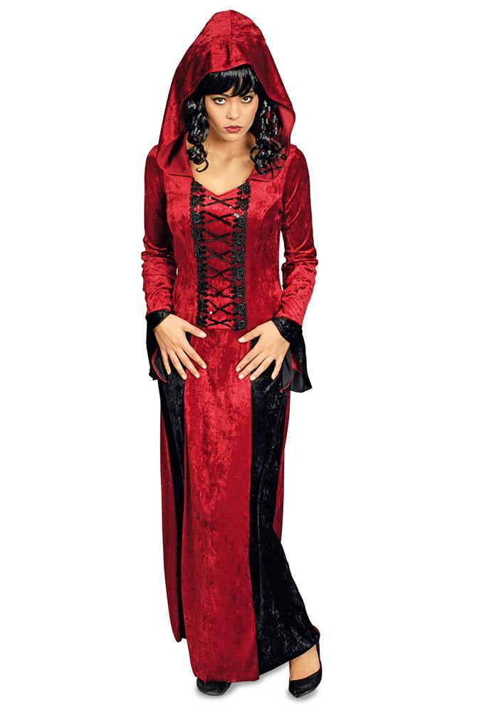 Vampir Kostum Damen Lang Mit Kapuze Kostume