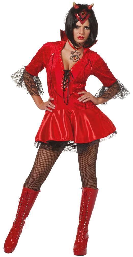 sexy teufel in kost m damen teufelskost m rot halloween kost me g nstige karnevalskost me von. Black Bedroom Furniture Sets. Home Design Ideas