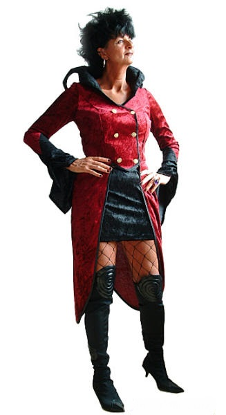 vampir kost m damen rot schwarz halloween damenkost m. Black Bedroom Furniture Sets. Home Design Ideas