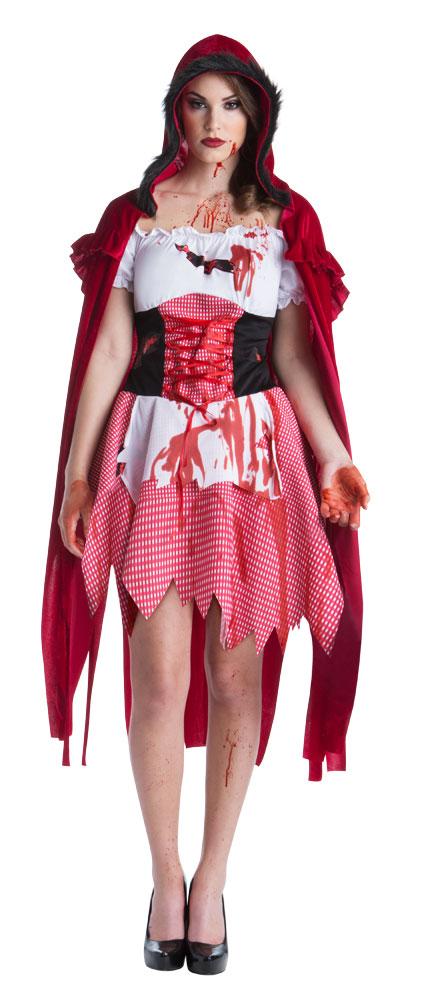 36e07c6c629280 blutiges Rotkäppchen Kostüm Horror Damen-Kostüm mit Blut Zombie ...