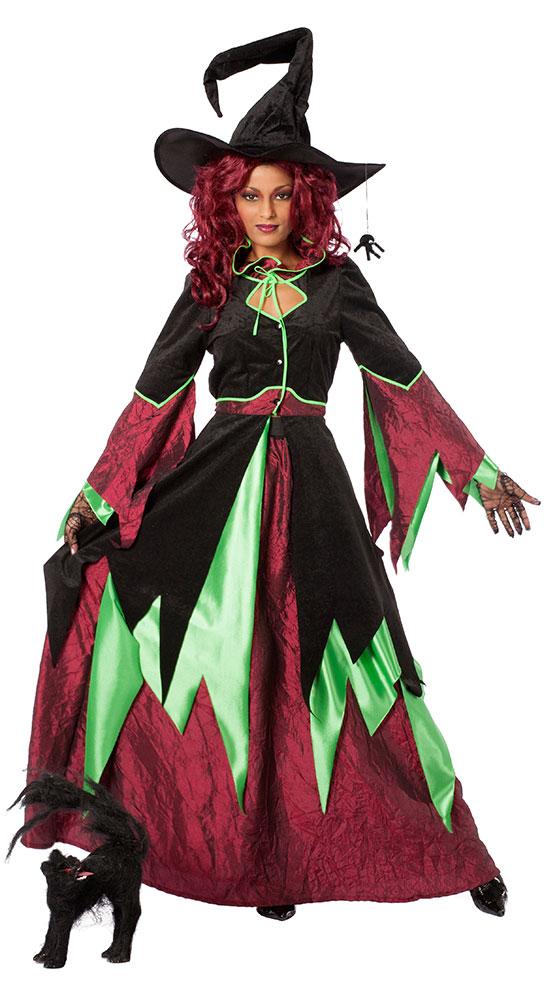 Halloween Hexenkostum E Damen Kostum Marchen Hexe Langer Rock Und