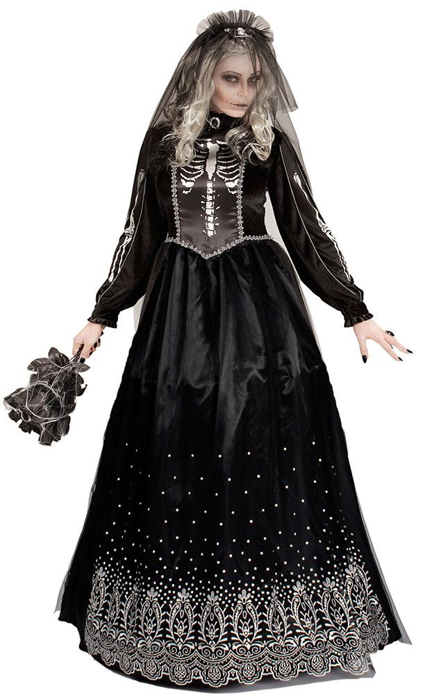 Zombiebraut Horrorbraut Halloween Gruselkleid Kostüm für Damen