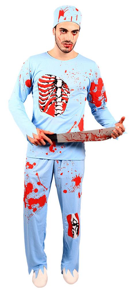 Horror Kostum Herren Blutiger Arzt Kostume