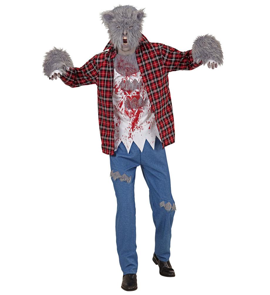 horror kost m herren werwolf kost m mit werwolf maske kost me. Black Bedroom Furniture Sets. Home Design Ideas