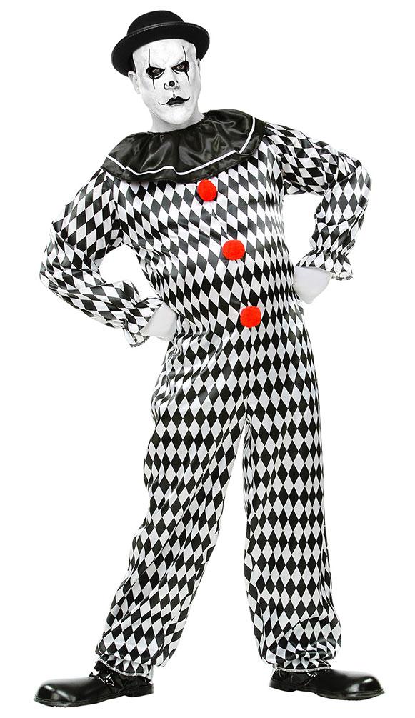 Clown Kostum Narren Schwarz Weiss Kostume