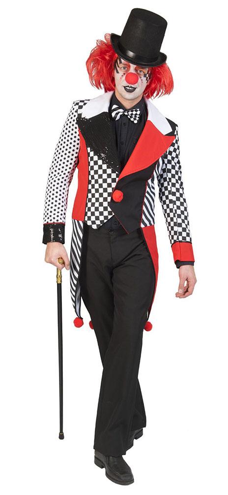 Pierrot Kostum Herren Clown Schwarz Weiss Rot Kostume