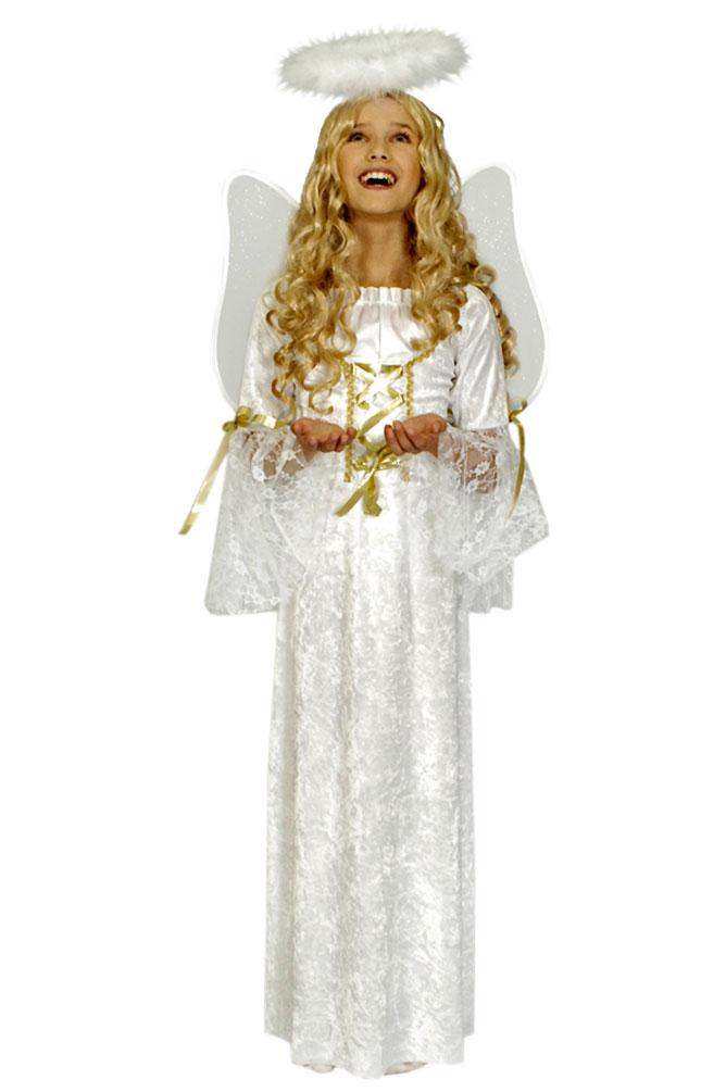 Kostüm Kleid Engel Gabriela Mädchen Weihnachten Mädchenkostüm (Kostüme)
