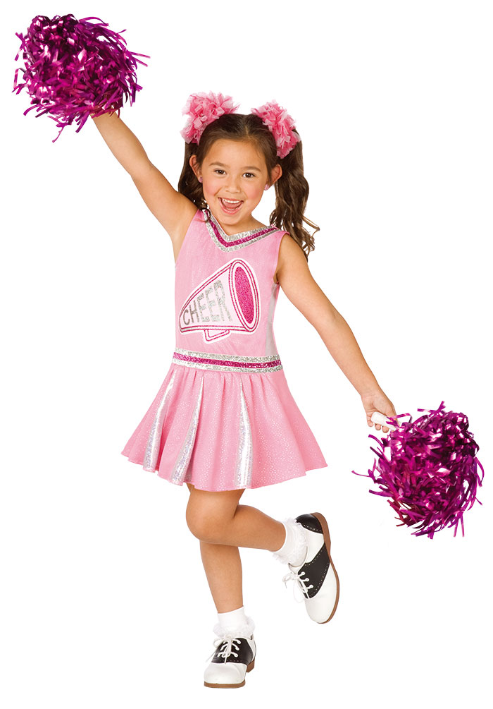 cheerleader kost m kinder m dchen kost m kleid rosa pink. Black Bedroom Furniture Sets. Home Design Ideas