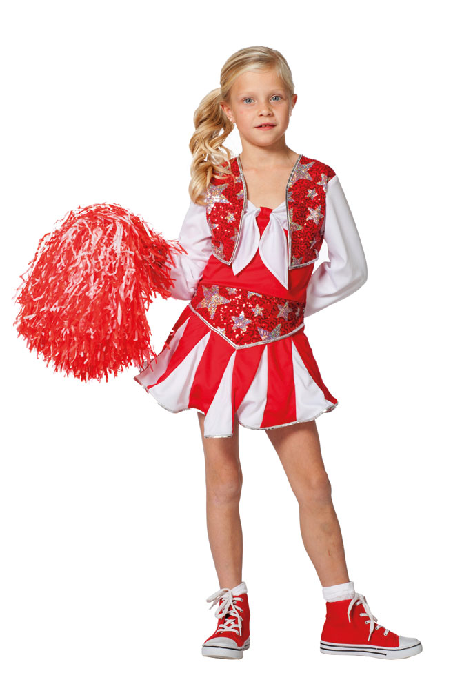 cheerleader kost m kinder m dchen kost m kleid rot wei silber kost me. Black Bedroom Furniture Sets. Home Design Ideas