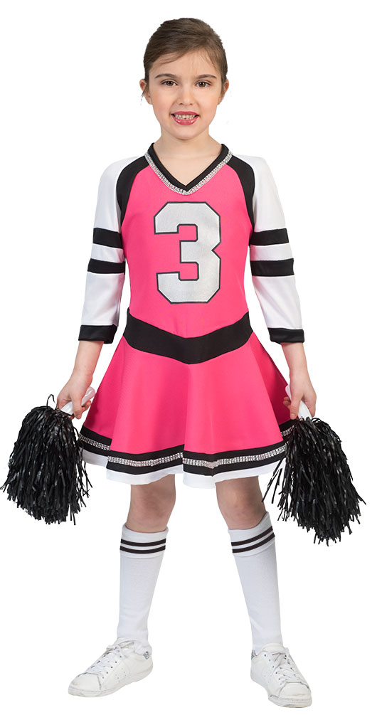 Cheerleader Kostum Kinder Pink Schwarz Kinder Kostum Cheerleader