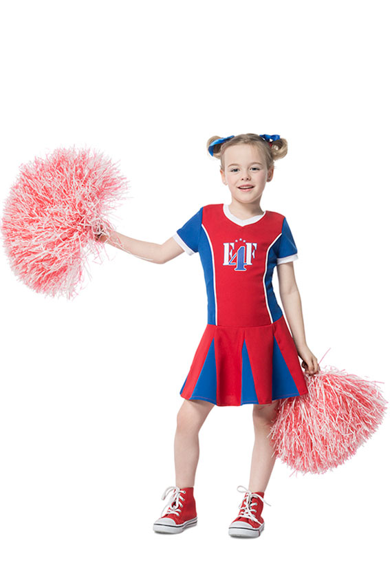 Cheerleader Kostum Kinder Blau Rot Weiss Kinder Kostum Cheerleader