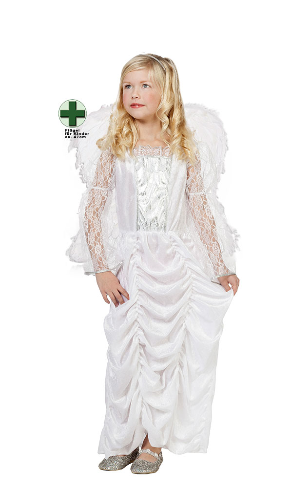 Engelskostum Kinder Kleid Mit Engelsflugel