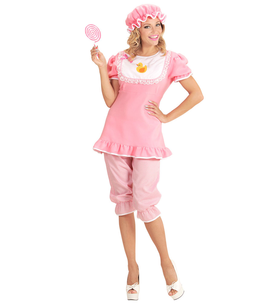Baby Kostum Erwachsene Damen Kostum Rosa Weiss Karneval Fasching Sale