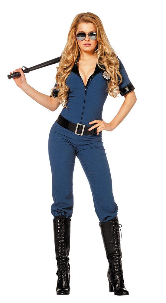 Polizist Kostüm Overall Damen Kostüme