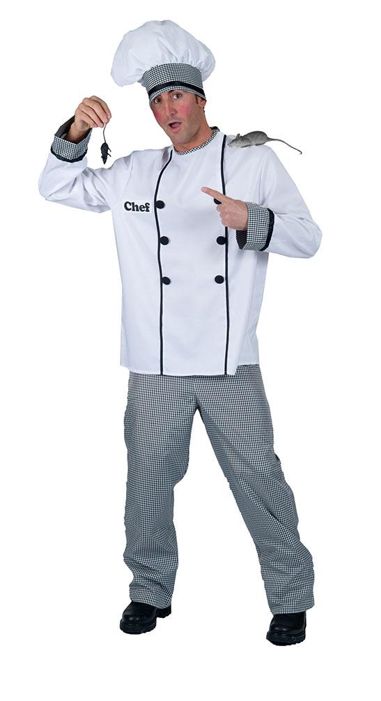 Koch Kostüm für Herren Bäcker Pizzabäcker Herrenkostüm Chefkoch Herrenkostüm Gr.