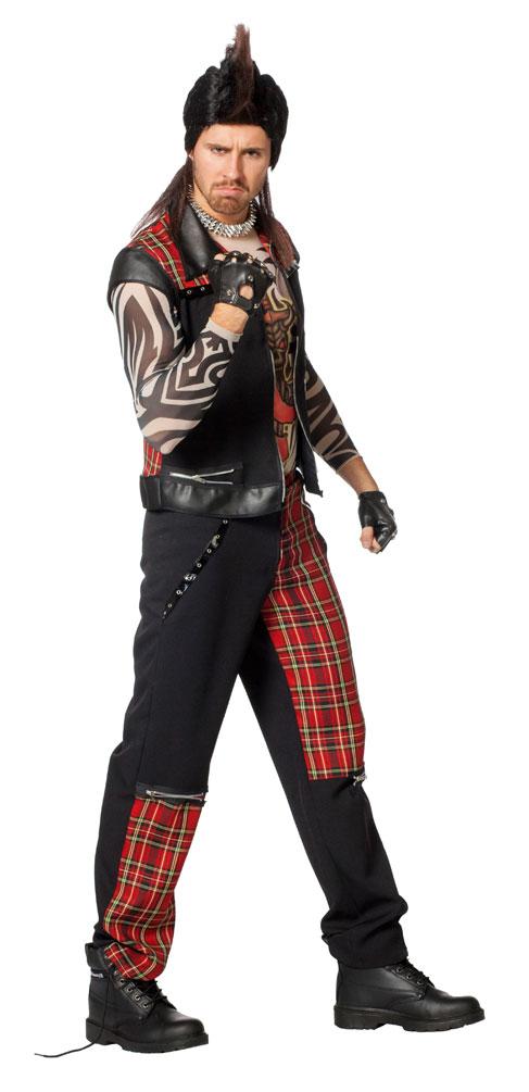 Kostum Punker Herr Karneval Rocker Herrenkostum Kostume