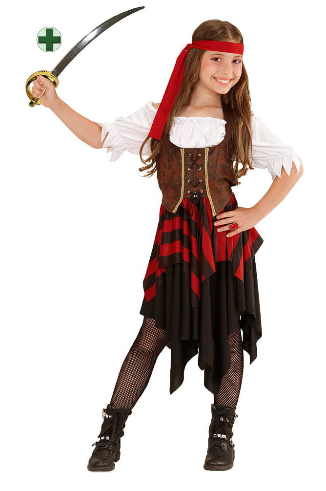 piratenkost m kinder piratin kinder m dchen piratenbraut fasching karneval kk ebay. Black Bedroom Furniture Sets. Home Design Ideas