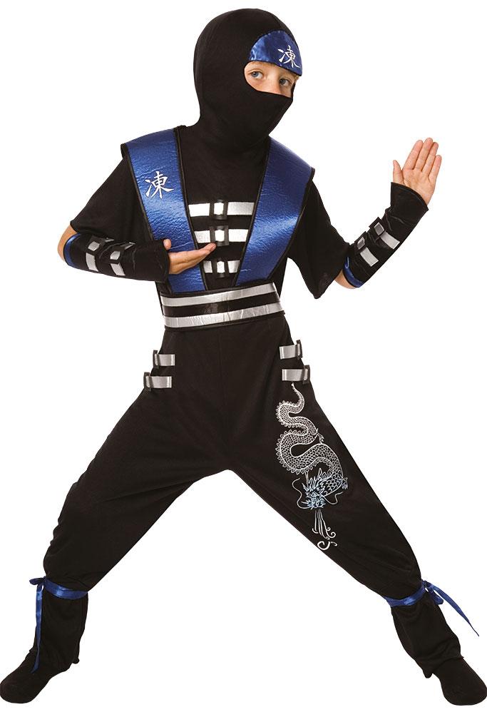 party komplettkost m ninja blau schwarz kind kost me. Black Bedroom Furniture Sets. Home Design Ideas