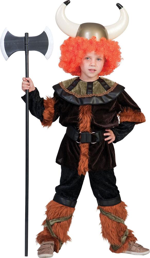 Wikinger Kostum Kinder Nordmann Kostum Mit Plusch Junge Kinder