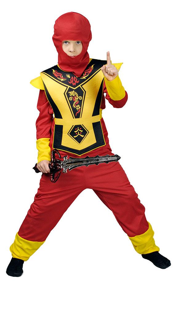 Kämpfer Samurai Kinder Ninjakostüm Ninja Jungen Kostüm Krieger Kampfsport Asia