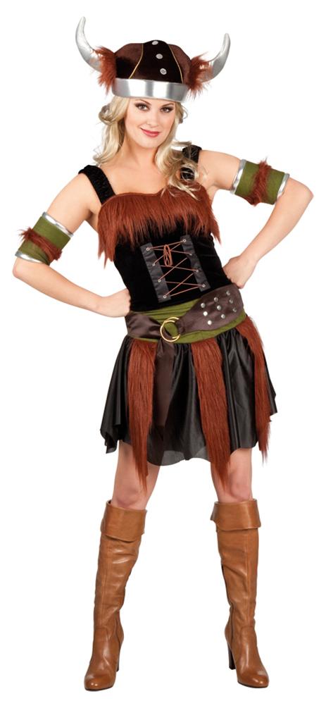Wikinger Kostum Damen Sexy Nordmann Kostum Wikinger Helm Damen