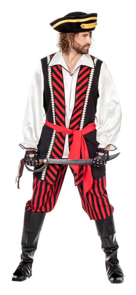 piraten kost m herren kost m pirat kapit n schwarz rot wei kost me g nstige karnevalskost me. Black Bedroom Furniture Sets. Home Design Ideas
